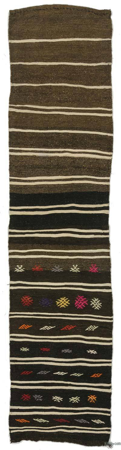 Vintage Turkish Kilim Runner - 2'1'' x 9'1'' (25 in. x 109 in.)