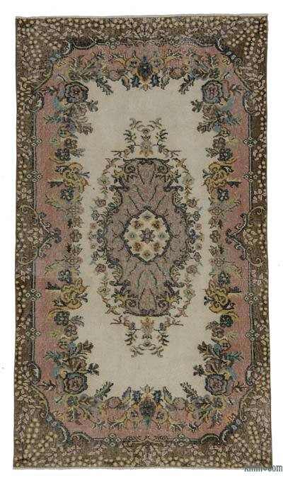 Turkish Vintage Area Rug - 3'10'' x 6'10'' (46 in. x 82 in.)