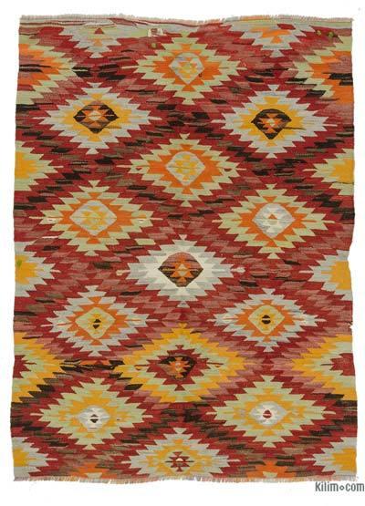 Multicolor Vintage Afyon Kilim Rug   K0028048