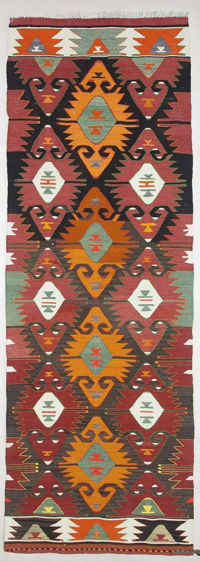 Multicolor Vintage Mut Kilim Runner - 2'9'' x 7'9'' (33 in. x 93 in.)