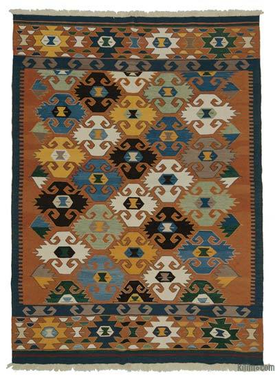 "New Handwoven Turkish Kilim Rug - 6'8"" x 9'5"" (80 in. x 113 in.)"