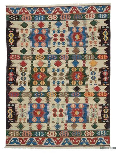 "New Handwoven Turkish Kilim Rug - 8'8"" x 11'7"" (104 in. x 139 in.)"