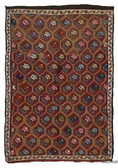 Red Vintage Turkish 'Zili' Rug