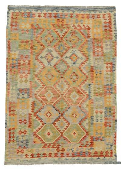 "New Afghan Kilim Rug - 5'8"" x 7'10"" (68 in. x 94 in.)"