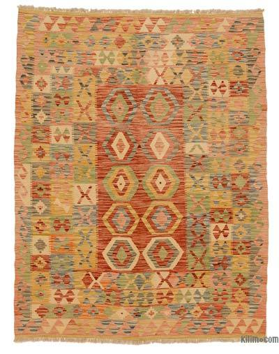 New Afghan Kilim Rug - 4'11'' x 6'5'' (59 in. x 77 in.)