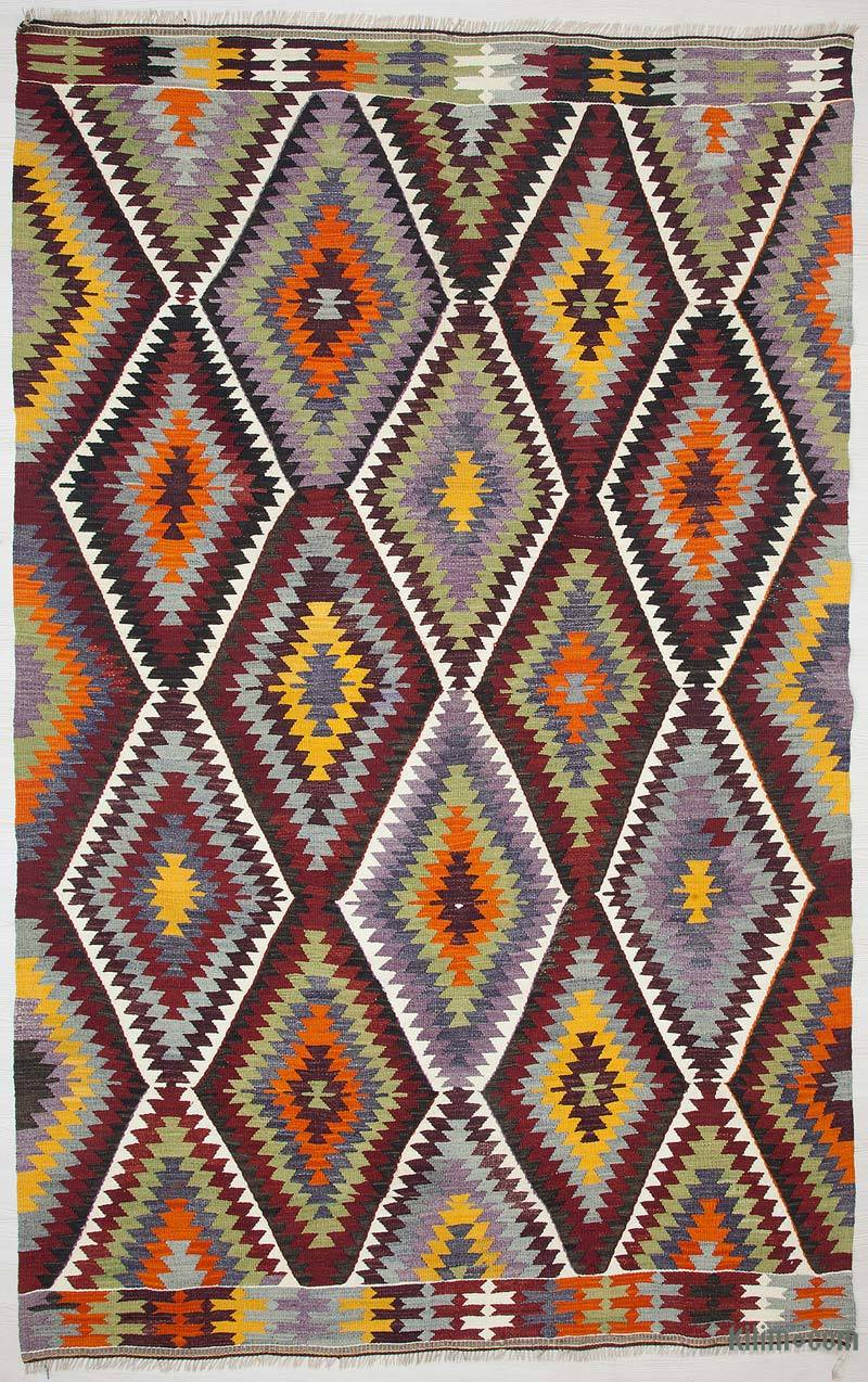 K0028356 Multicolor Vintage Antalya Kilim Rug 5 7 Quot X 8 8