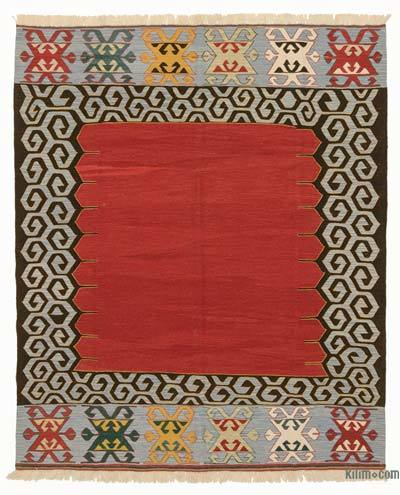 "New Handwoven Turkish Kilim Rug - 6'9"" x 8'1"" (81 in. x 97 in.)"