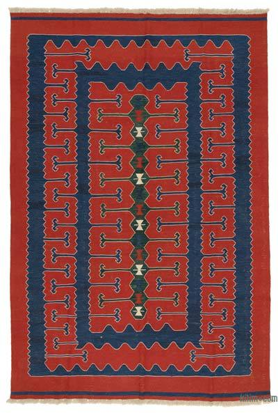 "New Handwoven Turkish Kilim Rug - 7'6"" x 10'11"" (90 in. x 131 in.)"