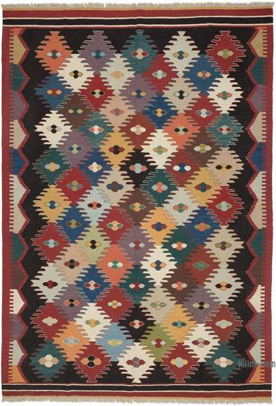 "New Handwoven Turkish Kilim Rug - 7'5"" x 10'8"" (89 in. x 128 in.)"