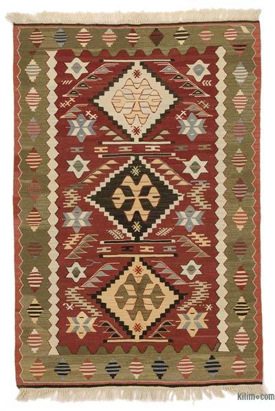 "New Handwoven Turkish Kilim Rug - 3'5"" x 4'11"" (41 in. x 59 in.)"