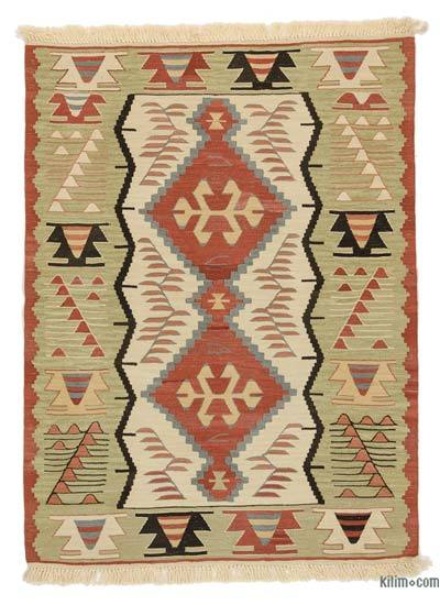 "New Handwoven Turkish Kilim Rug - 3'2"" x 4'4"" (38 in. x 52 in.)"