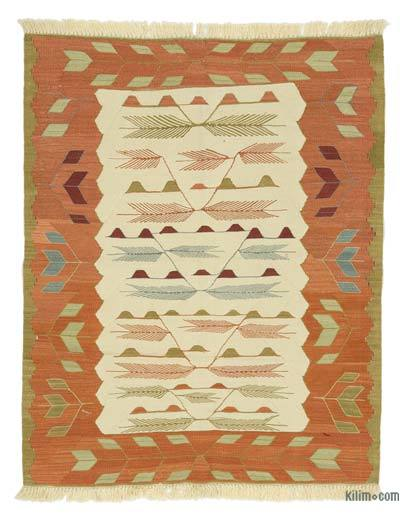 "New Handwoven Turkish Kilim Rug - 3'6"" x 4'4"" (42 in. x 52 in.)"