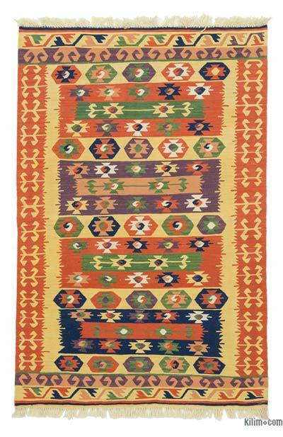 "New Handwoven Turkish Kilim Rug - 2'11"" x 4'6"" (35 in. x 54 in.)"