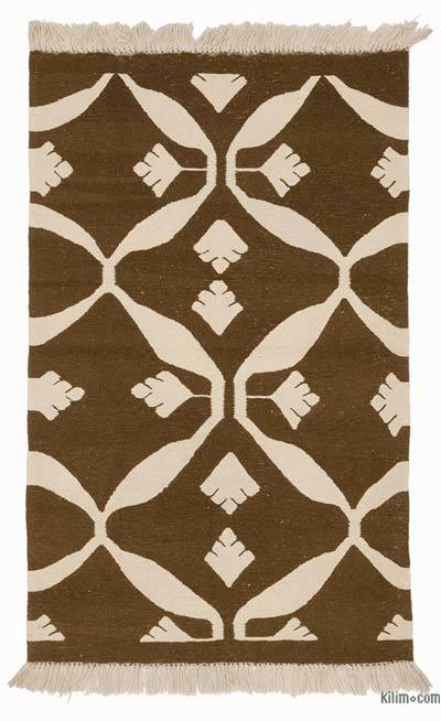 "New Handwoven Turkish Kilim Rug - 3'1"" x 4'11"" (37 in. x 59 in.)"