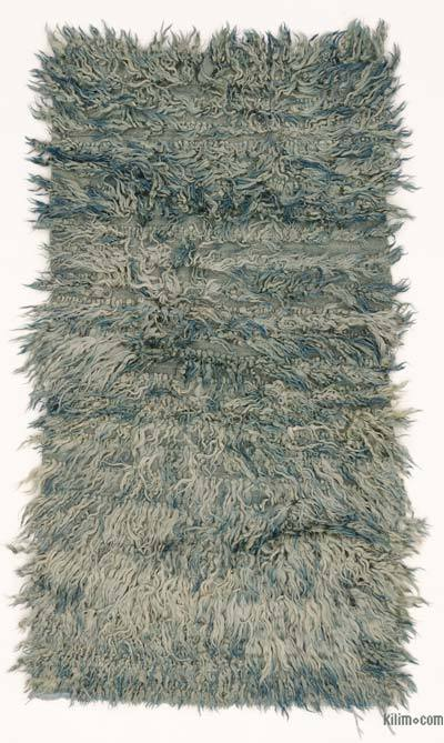 Light Blue New Turkish 'Filikli' Tulu Rug