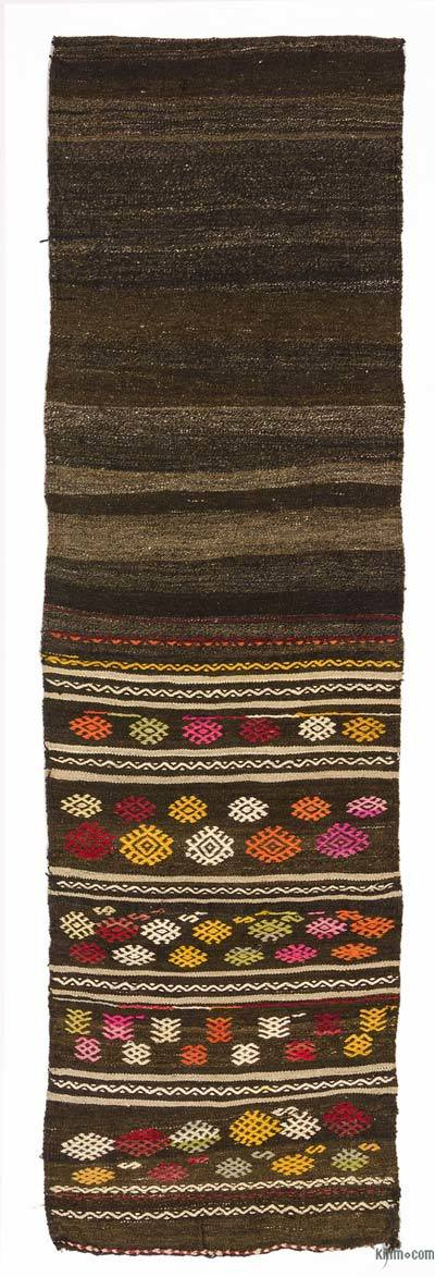 Vintage Turkish Kilim Runner - 2'5'' x 8'2'' (29 in. x 98 in.)