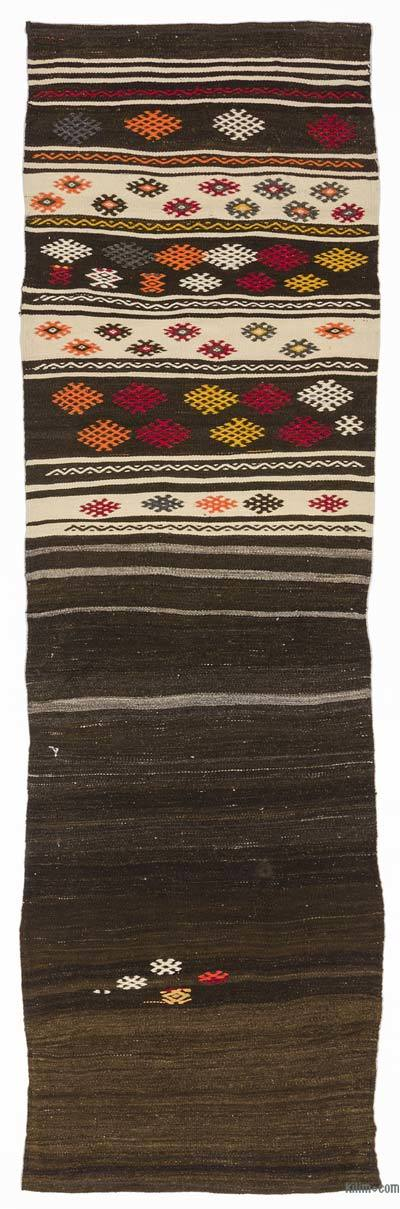 Vintage Turkish Kilim Runner - 2'7'' x 8'3'' (31 in. x 99 in.)