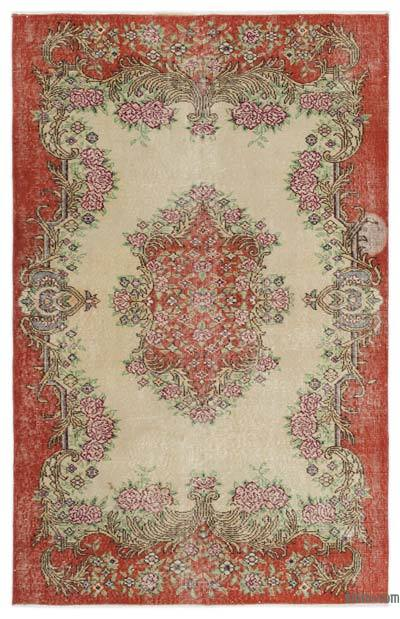 "Turkish Vintage Area Rug - 4'6"" x 7' (54 in. x 84 in.)"