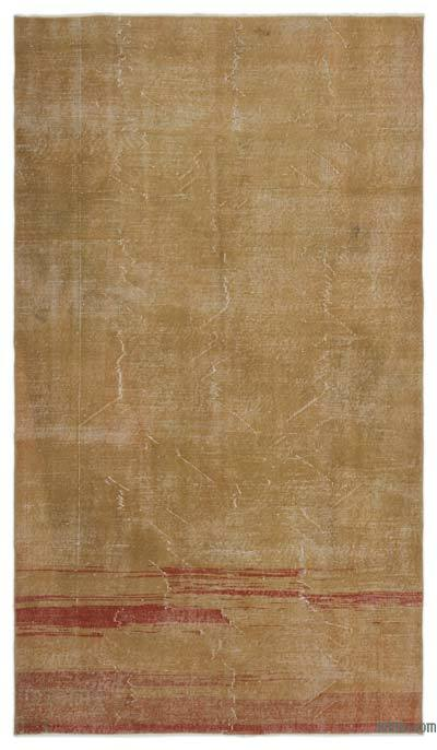 Brown Over-dyed Turkish Vintage Rug - 5'4'' x 9'2'' (64 in. x 110 in.)