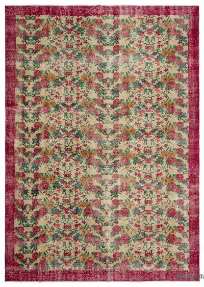 "Turkish Vintage Area Rug - 7'5"" x 10'4"" (89 in. x 124 in.)"
