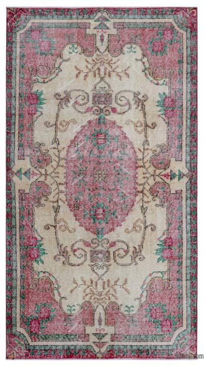 Turkish Vintage Area Rug - 3'8'' x 6'8'' (44 in. x 80 in.)