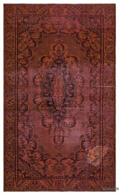Over-dyed Turkish Vintage Rug - 5'9'' x 9'7'' (69 in. x 115 in.)