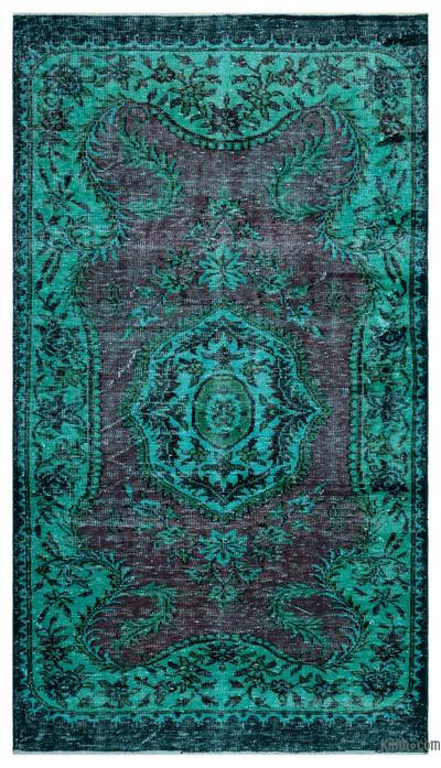 "Over-dyed Turkish Vintage Rug - 4'10"" x 8'9"" (58 in. x 105 in.)"