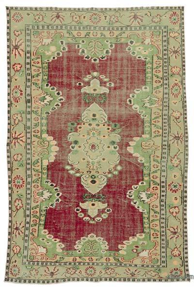 Turkish Vintage Area Rug - 5'8'' x 8'6'' (68 in. x 102 in.)