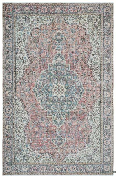 Turkish Vintage Area Rug - 6'7'' x 10'3'' (79 in. x 123 in.)