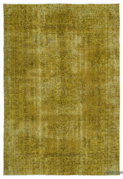 "Over-dyed Turkish Vintage Rug - 6'5"" x 9'4"" (77 in. x 112 in.)"