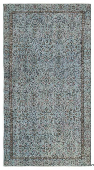 "Over-dyed Turkish Vintage Rug - 5'5"" x 9'8"" (65 in. x 116 in.)"