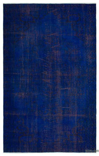 Over-dyed Turkish Vintage Rug - 5'9'' x 9'1'' (69 in. x 109 in.)