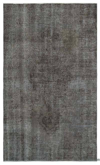 Grey Over-dyed Turkish Vintage Rug - 5'3'' x 8'10'' (63 in. x 106 in.)