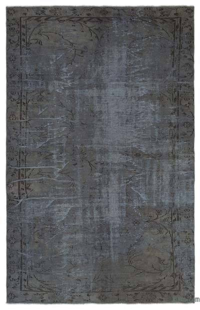 Grey Over-dyed Turkish Vintage Rug - 5'8'' x 9'1'' (68 in. x 109 in.)