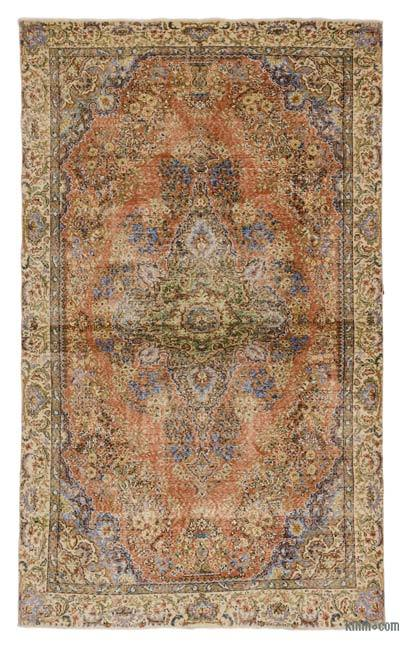 Turkish Vintage Area Rug - 6'4'' x 10'6'' (76 in. x 126 in.)