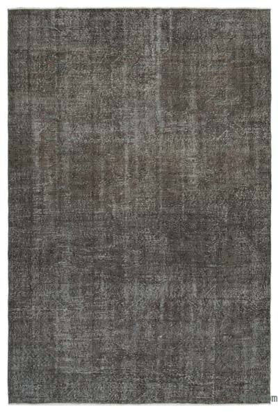 Grey Over-dyed Turkish Vintage Rug - 6'9'' x 10'2'' (81 in. x 122 in.)