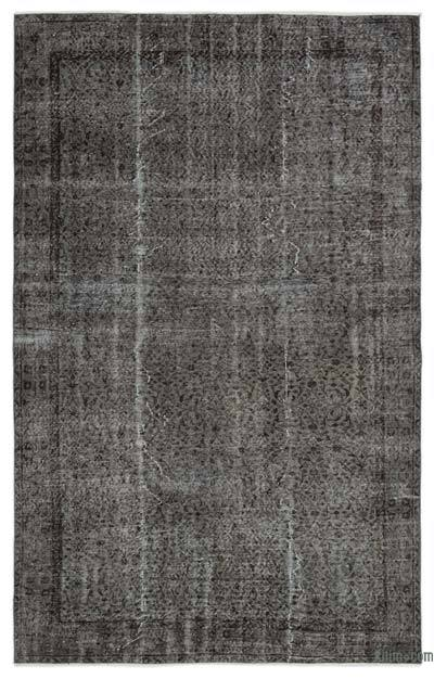 Grey Over-dyed Turkish Vintage Rug - 6' x 9'5'' (72 in. x 113 in.)