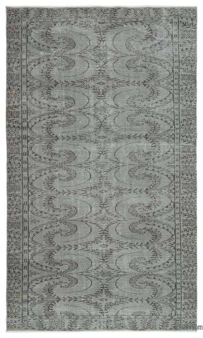 "Over-dyed Turkish Vintage Rug - 5'2"" x 8'10"" (62 in. x 106 in.)"