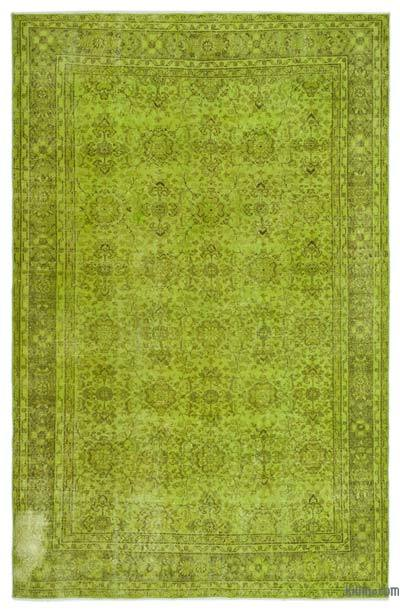 "Over-dyed Turkish Vintage Rug - 6'7"" x 10'1"" (79 in. x 121 in.)"