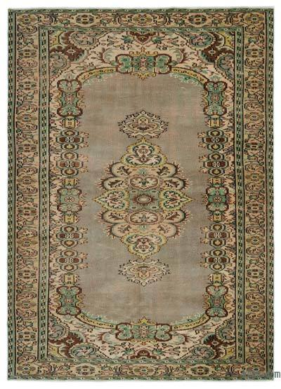 "Turkish Vintage Area Rug - 6'4"" x 8'10"" (76 in. x 106 in.)"
