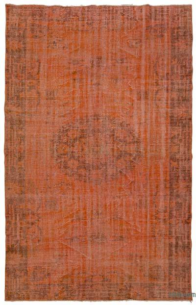 "Over-dyed Turkish Vintage Rug - 6'2"" x 9'10"" (74 in. x 118 in.)"