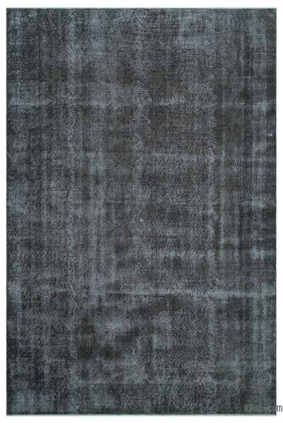 Grey Over-dyed Turkish Vintage Rug - 6'10'' x 10'5'' (82 in. x 125 in.)