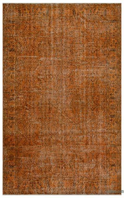 Orange Over-dyed Turkish Vintage Rug - 5'9'' x 9'3'' (69 in. x 111 in.)