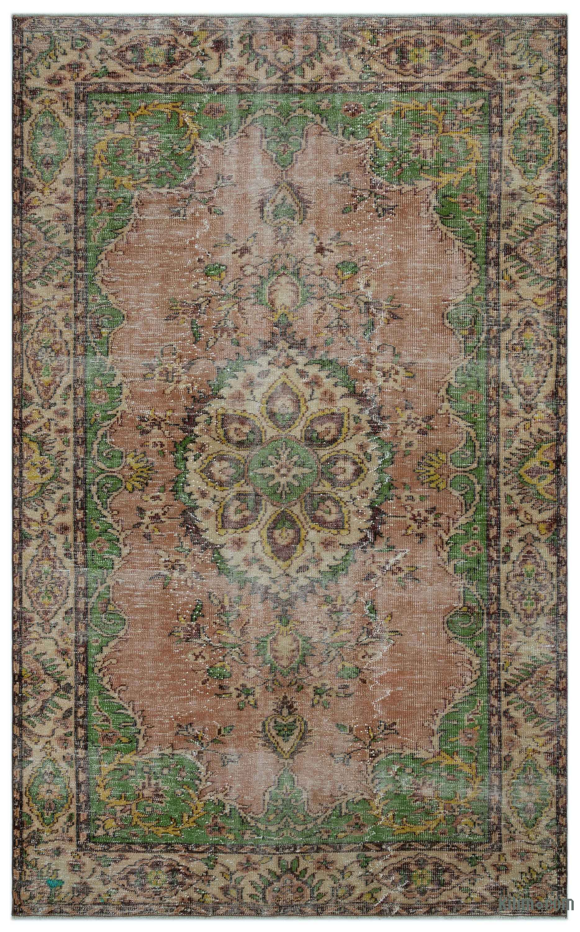 K0029428 Turkish Vintage Area Rug 6 2 Quot X 9 10 Quot 74 In X