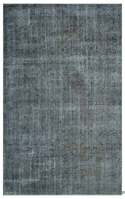 Grey Over-dyed Turkish Vintage Rug - 5'10'' x 9'1'' (70 in. x 109 in.)