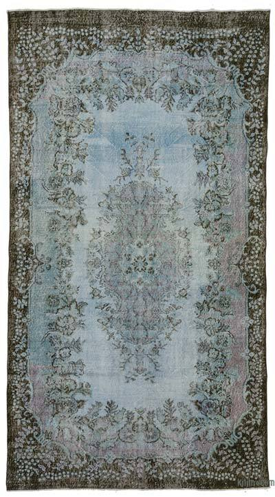Light Blue Over-dyed Turkish Vintage Rug - 6' x 11'1'' (72 in. x 133 in.)