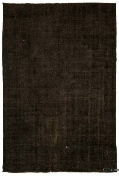 Brown Over-dyed Turkish Vintage Rug - 5'9'' x 9' (69 in. x 108 in.)