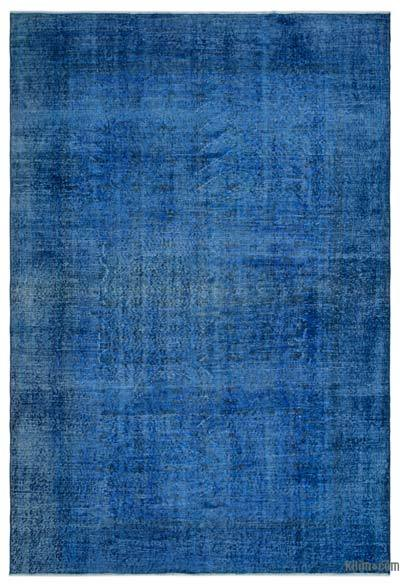 Blue Over-dyed Turkish Vintage Rug - 6'6'' x 9'6'' (78 in. x 114 in.)