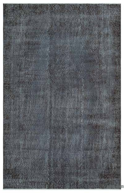 Grey Over-dyed Turkish Vintage Rug - 5'6'' x 8'8'' (66 in. x 104 in.)