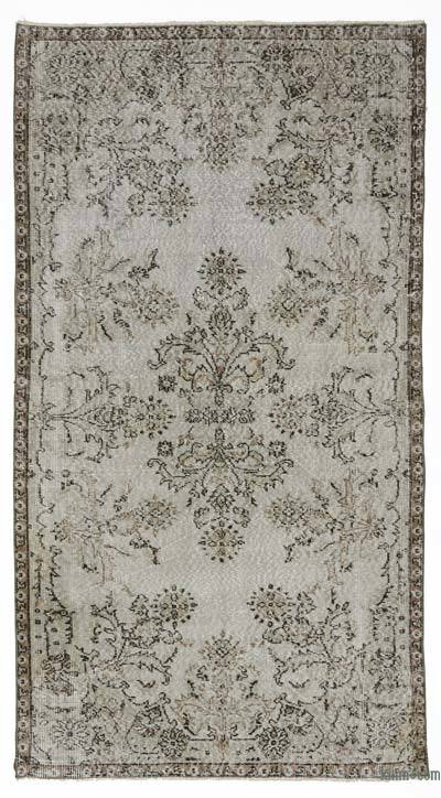 "Over-dyed Turkish Vintage Rug - 3'7"" x 6'9"" (43 in. x 81 in.)"